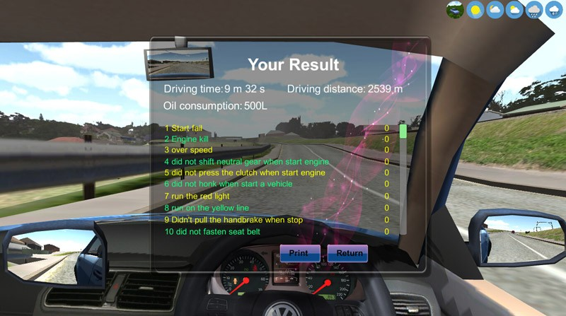 Car simulator for South africa city pinetown and rossburgh South africa