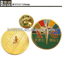 2015 new custom Round metal pin badge with epoxy