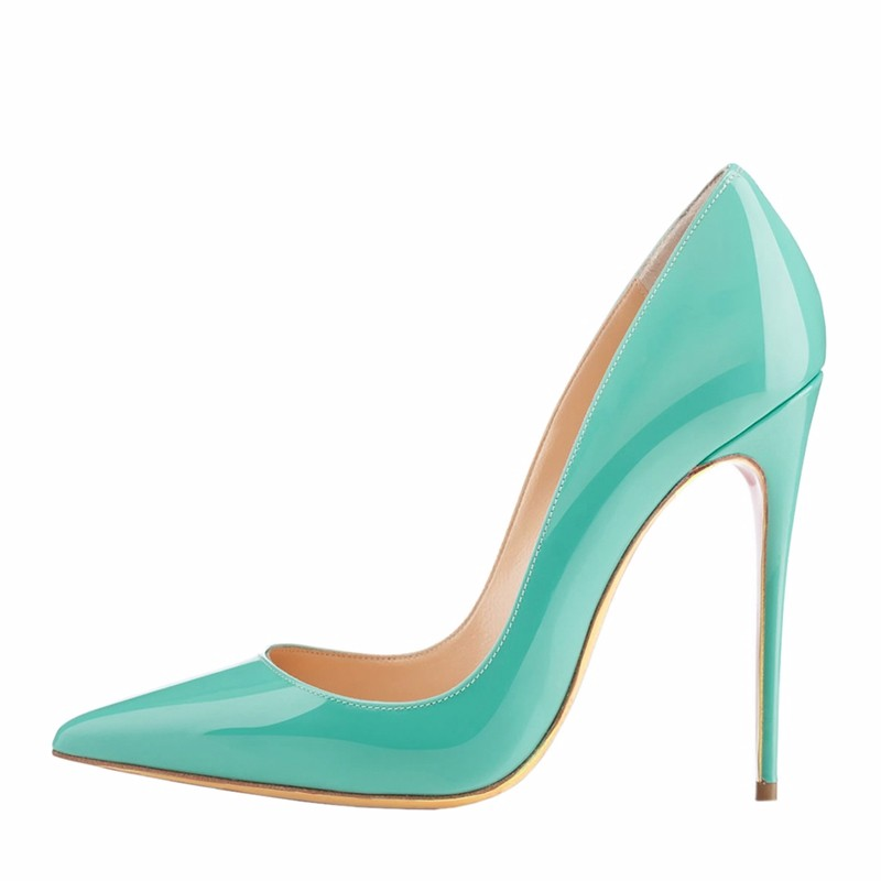 Women Shoes 2017 New Design Stiletto Pointed Toe Fancy 12cm High Heel
