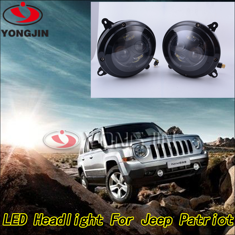 New design 1pair 75w LED headlight for jeep patriot