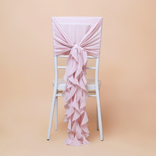 High quality organza wedding curly willow chair cover for beach wedding