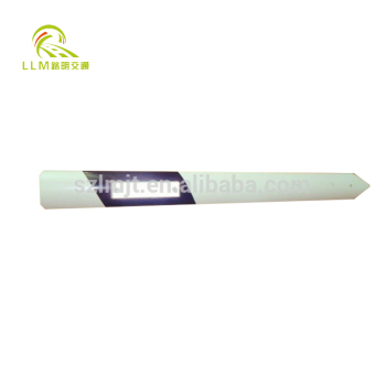 UV resistance high visibility flexible road safety white PVC guide post