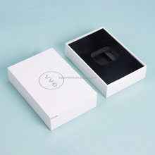 white gift luxury paper box packaging with lid eva foam inside for vape cbd oil packaging