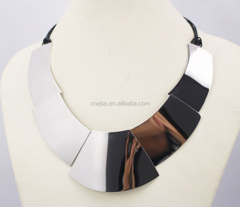 New Arrival Hot Sale Fashion Stainless Steel Big Chunky Necklace Premier Designs Women Gift