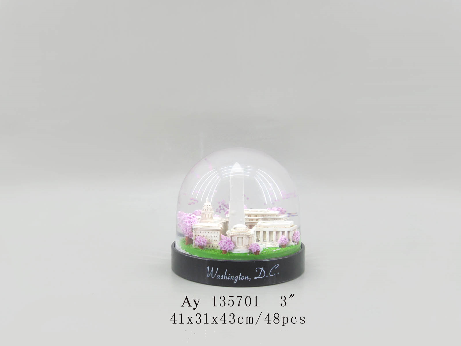 80MM Custom made ferris wheel souvenir snow globes