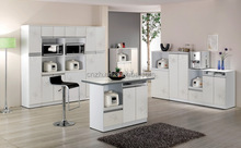 high gloss white kitchen cabinet Modern style free standing kitchen storage cabinets