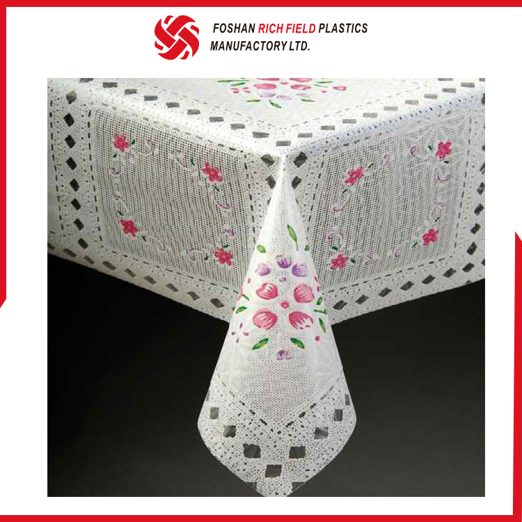 Factory Manufacture Wholesale Fancy Clear PVC Tablecloth