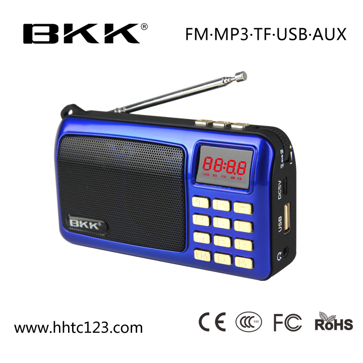 FM radio mini digital speaker mini speaker sound box (B820)