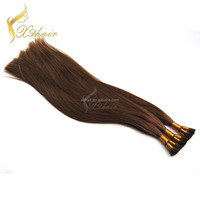 Top quality Natural color Brazilian vigin remy hair I-tip Stick-tip hair extension