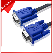 High quality blue vga cable 3+2 3+4 3+6 1.5m 3m 5m 10m 15m 20m VGA CABLE for computer