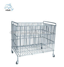 storage metal container cage with wheels