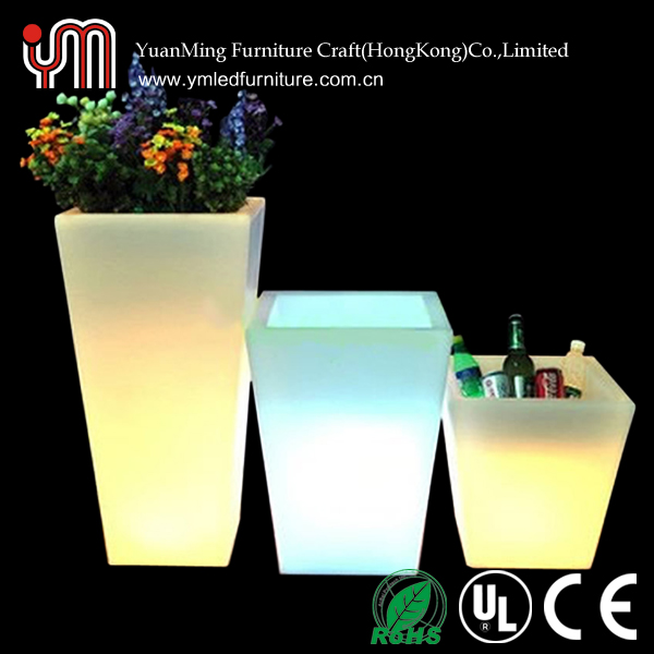 Professional led illuminate flower pot with CE certificate