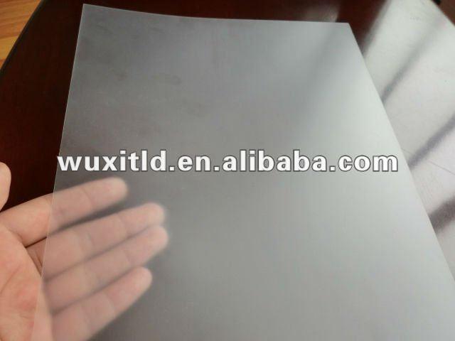 L mina de pvc r gido transparente para imprimir hojas de - Laminas de plastico transparente ...
