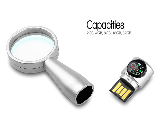 Magnifying glass usb stick 128mb as gifts
