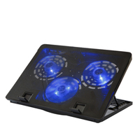 electric laptop notebook cooling pad stand 3 fan with gel