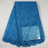 High quality fabric fashion latest design hot sale french net lace teal blue french lace 4F15-DD