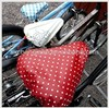 black polyester promotional bike seat covers