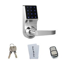 New Zinc Alloy Lock with Remote Control RFID Card Electronic Smart Access Keyless Digital Code Door Lock