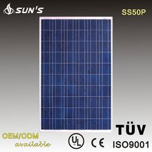 High Efficiency TUV Crystalline Silicon Solar Panel / TUV Solar Panel / Solar Module 50W