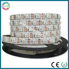 Dream color ws 2812b rgb led flex strip 3M type adhesive with connector