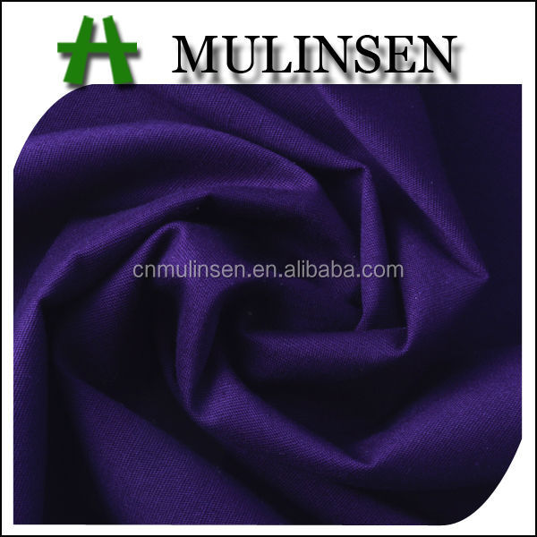 Mulinsen Textile Woven Plain Dyed High Quality Combed Yarn Stretch Poplin Cotton Lawn Fabric
