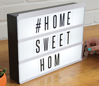 A4 free standing led light box with 85 coloured letters and symbols