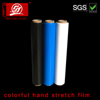 300~450mm width customized mic color lldpe pe blue stretch film