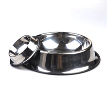 Stainless steel cocker dog bowl with non-slip mat steel dog bowl stainless steel pet bowl