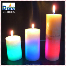 China Gift Craft Battery Wax Colour Changing Candle D5 * H7.5 cm