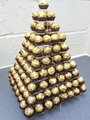 Ferrero Rocher, Chocolate, Sweets or Marshmallow Wedding & Party Stand (Square Pyramid 10 Tier Clear Acrylic Stand)