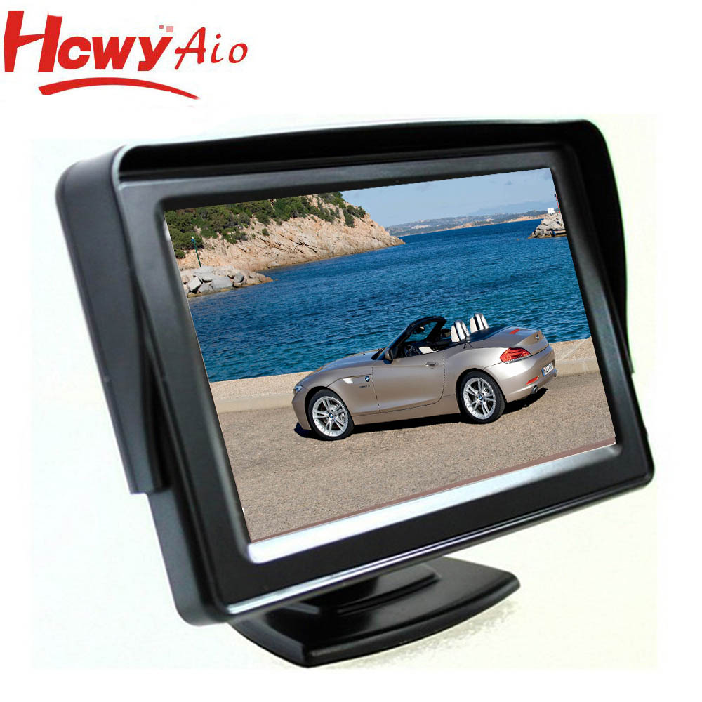 "2016 Hot sale 4.3"" 16:9 TFT LCD car monitor with CE RoHs FCC"