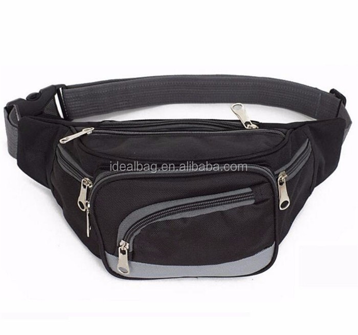 China wholesale nylon waist hip bag fashion leisure running sport pouch bag at low price
