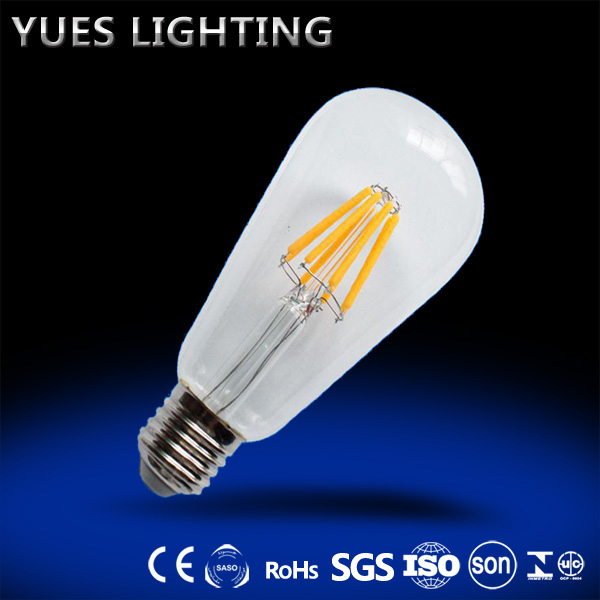 new model led filament bulb glass/plastic material 2W 4W 6W 8W factory direct price