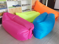 Lightweight Nylon Fabric air Inflatable and portable Lay Bag sofa Wholesale Inflatable Beach Lounge