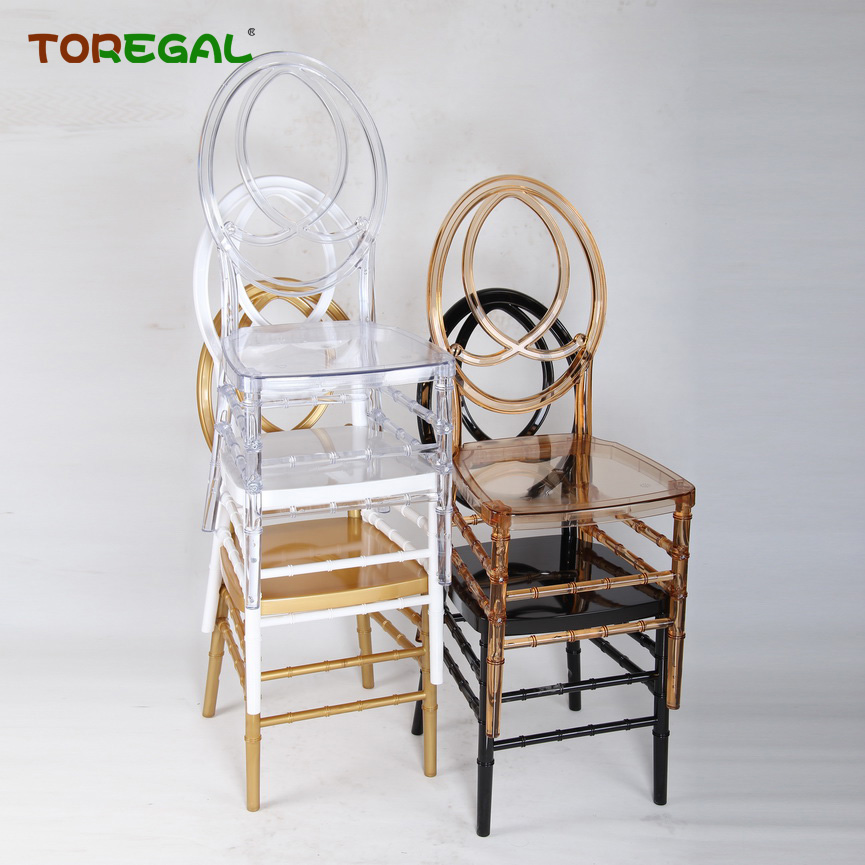 China Wholesale Clear PC Resin Phoenix Wedding Chairs for Rental