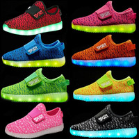 Factory Price Fashion New Yezzy LED Shoes For Kids USB Control Lighting Shoes