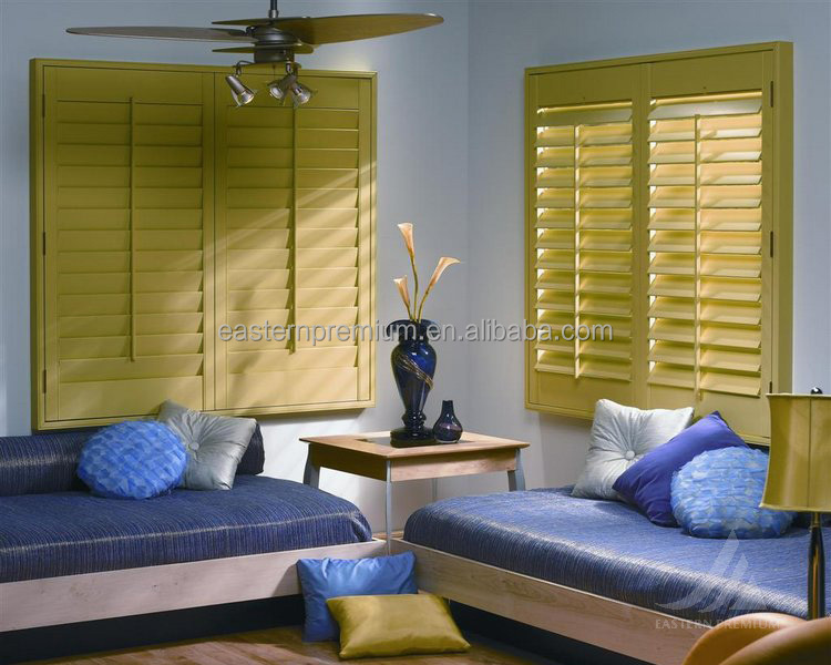 China factory window plantation shutter and wood folding window shutter shades