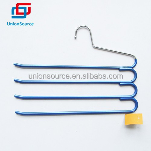 4 tier PVC coated metal clothes hanger