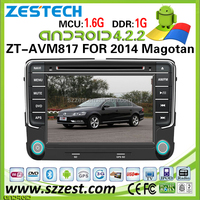 ZESTECH Brand new 2014 OEM android car dvd for VW Magotan android car dvd gps with wifi bluetooth 3g wifi