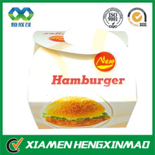 wholesale Top quality hamburger box, paper box & fried chicken burger box,lunch food box