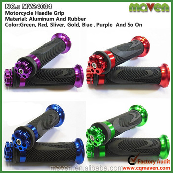 Hot Sale Soft Rubber CNC Aluminum Motorcycle Handle Bar Grip Manufacturer MV24004