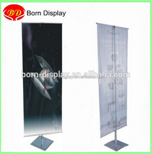 Light-weight Aluminum Frame 60W*160cmH Double Side Wall Picture Shelf for Advertising