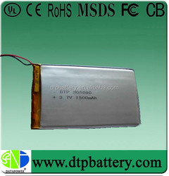 1500mah 3.7v rechargeable lithium ion battery packs
