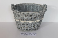 Round And Oval Wicker Basket With Handle
