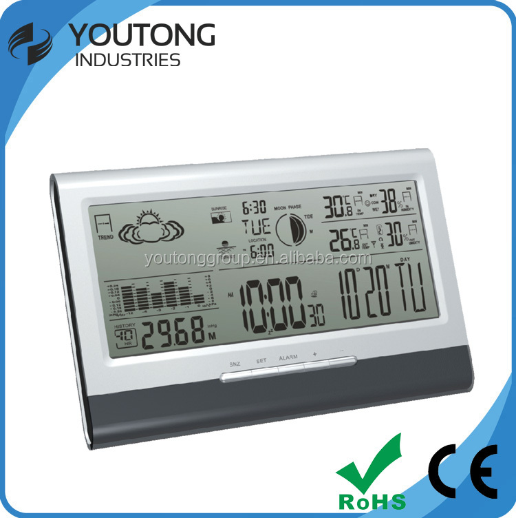 Battery supply tide indicators weather stations with temperature and humidity sensor