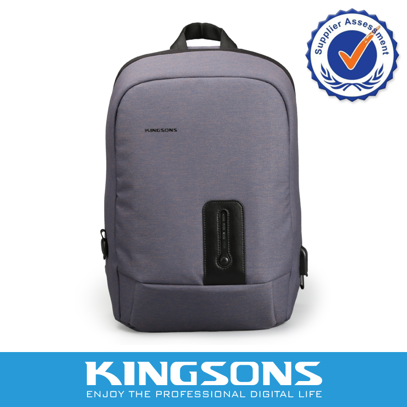 Kingsons Customized Men's USB Charging Laptop Backpack