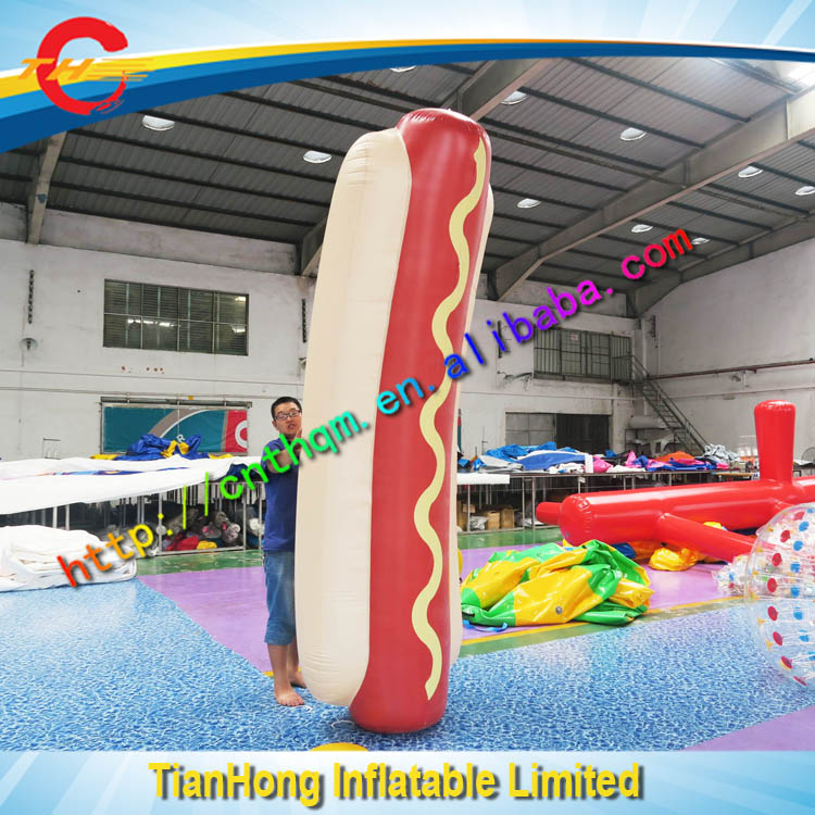hot selling inflatable model for outdoor advertising/commercial use inflatable hot dog model