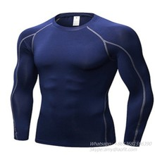 2019 Sportswear T-shirt fitness gym clothing long sleeve apparel for <strong>men</strong>