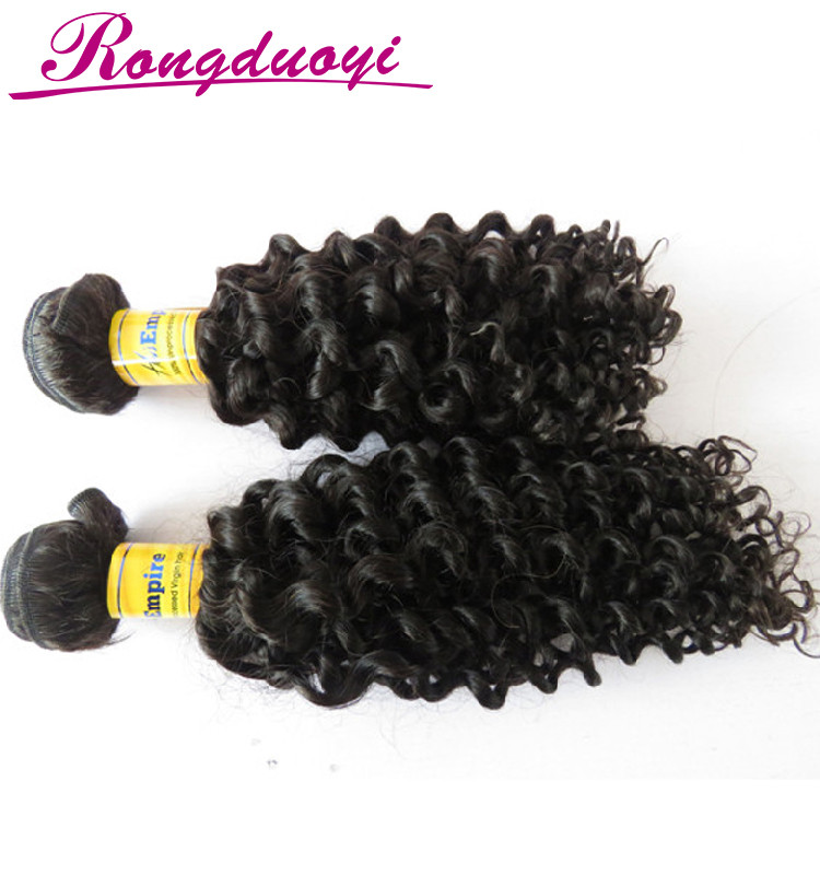 Hot sale brother three head hair weft machine jerry curly Indian hair weave bundles