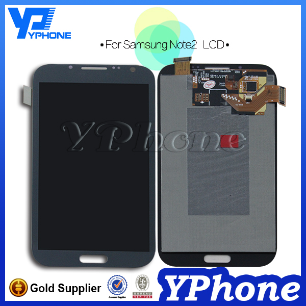 Made in China lcd touch screen for samsung note2, for galaxy note 2 lcd with digitizer assembly